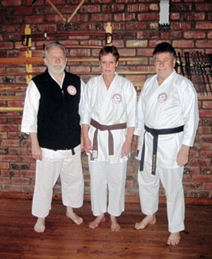 Jannie and Betsie le Grange with Hennie de Vries Sensei . George 2006